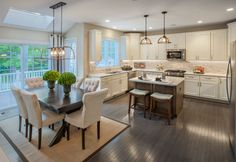 Toll Brothers - Ellsworth Kitchen with Breakfast Nook and Greenhouse Addition