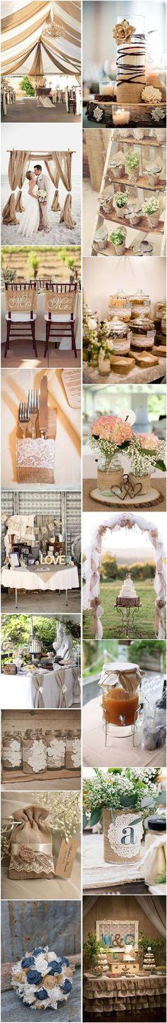 Detalles decorativos que no pueden faltar en tu boda rústica