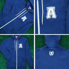 Soft Full-Zip Hoodie Jacket / now available online!#madeinusa#AmericanVarsity
