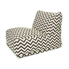 Majestic Home Goods 859072203 Indoor/Outdoor Bean Bag Lounger in Zig Zag Pattern - ATG Stores