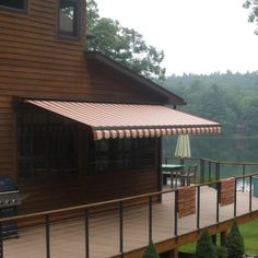 SunStopper Sun Haven 16 x 13-ft. Motorized Retractable Awning, Brown