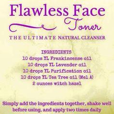Flawless face toner add lemon and copaiba, 10 drops each