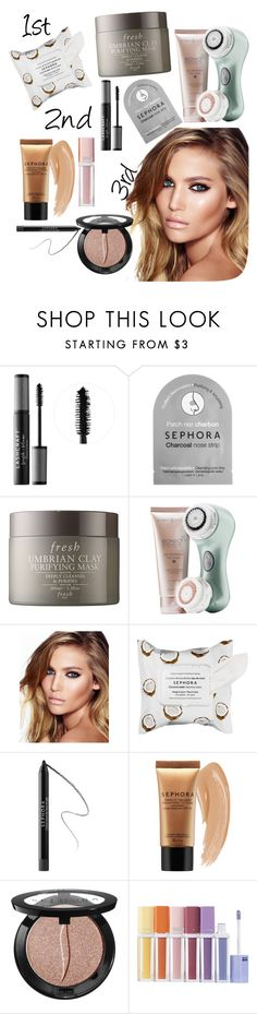 """Your beauty in 3 steps"" by ashy-la-la ❤ liked on Polyvore featuring beauty, Sephora Collection, Fresh, Clarisonic, Charlotte Tilbury and facemasks"