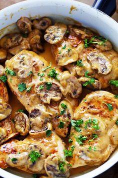 Creamy Chicken Marsala by therecipecritic #Chicken_Marsala #Quick