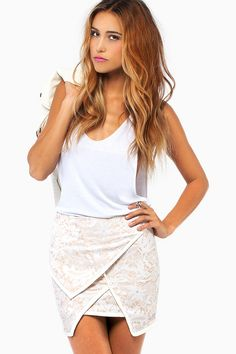 Floral and Lace Skirt $62 http://www.tobi.com/product/52807-tobI-floral-and-lace-skirt?color_id=71826