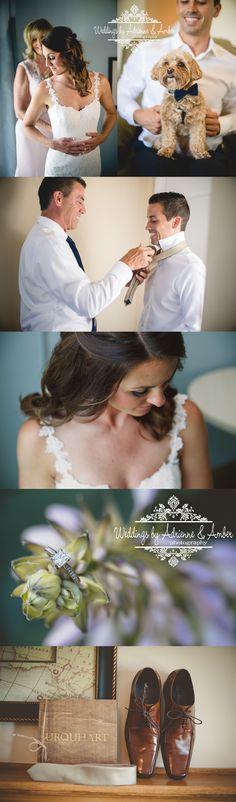 Royal Oak Wedding Photography - Weddings by Adrienne and Amber #bride #weddingday #gettingready #groom #dog #weddingdog #shoes #motherdaughter #fatherson #weddingdress #lace #love #inlove #weddingphotography #photography