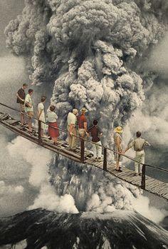 the eruption... Art Print by Hugo Barros More