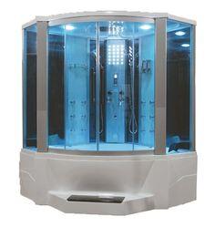 """6"""" Eagle Bath WS-701 Steam Shower w/ Whirlpool Bathtub Combo Unit"""
