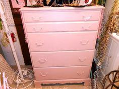 Shabby Chic Pink Dresser; no shipping! | FurnitureFusion - Furniture on ArtFire