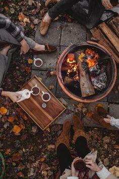Осенние посиделки у костра. #осень #autumn