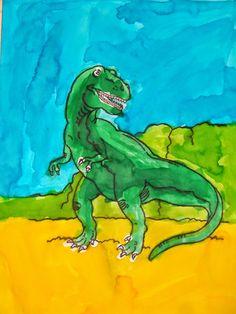 La maternelle de Luciole: art visuel carnivore - dinosaures 14