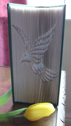 Cut and Fold Book Folding Pattern of Bird Flying on Craftsuprint - View Now!