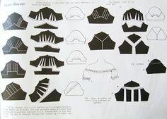 Försöker förstå hur ett mönster till en ärm är uppbyggt. Pattern, sleeve, variations.