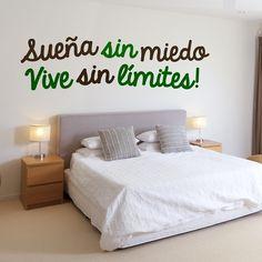 Vinilos Decorativos Textos TE206 Wall Decor, Room Decor, New Room, Wall Colors, Wall Design, Decoration, Sweet Home, Interior Design, Sofa