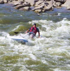 Wipe out on the rapids.