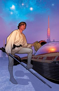 Star Wars: Luke Skywalker by (always epic) Adam Hughes. Star Wars Fan Art, Star Trek, Star Wars Luke Skywalker, Adam Hughes, Comic Book Artists, Comic Artist, Comic Books Art, Star Wars Comic Books, Star Wars Comics