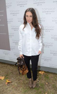 Tallulah Harlech, Topshop Unique, Front Row, London Fashion Week