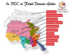 Le DOC del VIno in Friuli-Venezia Giulia by Quattrocalici Enjoy Your Vacation, Regions Of Italy, In Vino Veritas, Italian Wine, Bordeaux, Italy Food, Maps, Wine Pairings, Gourmet