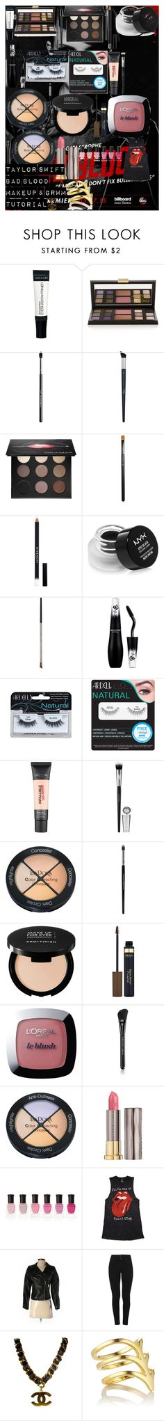 """""""TAYLOR SWIFT BAD BLOOD MAKEUP & GRWM TUTORIAL"""" by oroartye-1 on Polyvore featuring beauty, Lancôme, Sigma, Christian Dior, MAKE UP FOR EVER, MAC Cosmetics, Givenchy, NYX, Urban Decay and Ardell"""