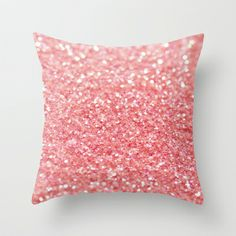coral pink Throw Pillow by ingz - $20.00