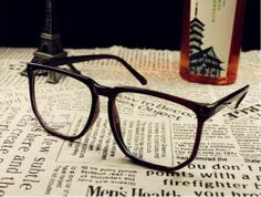 2012 Retro fashion big box plain glasses pectacles unisex plate frame eyeglasses