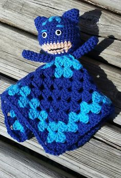 Pj masks lovey/amigurumi/blanket/super hero/ crochet/doll/