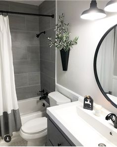 Amazing DIY Bathroom Ideas, Bathroom Decor, Bathroom Remodel and Bathroom Projects to assist inspire your master bathroom dreams and goals. Apartment Bathroom Design, Small Bathroom Interior, Bathroom Design Small, Diy Bathroom Decor, Bathroom Inspo, Bathroom Organization, Small Grey Bathrooms, Simple Bathroom, Bathroom Storage