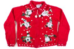 Red kids Ugly Christmas Cardigan 30391 Size 8/10 $12