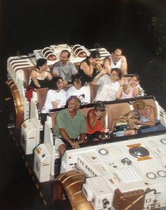 Not happy on the Dinosaur ride in Disney Worlds Animal Kingdom