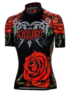 Black Rose Womens Cycling Jersey