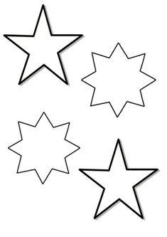 Estrellas de Navidad para Colorear (12)