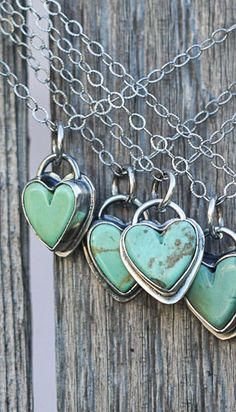 Turquoise Heart Necklace, sterling silver heart necklace, southwestern necklace #SterlingSilverTurquoise