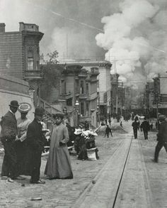 San Francisco 1907, Earthquake Aftermath.  My great grandmother remembered this.  She was 16.