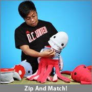 Zip and Match Modular Plush Animals from ThinkGeek. $24.99