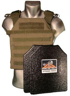 CATI Body Armor Bullet Proof Vest (AR)500 Plates Base Frag Coating Sentry OD in Sporting Goods, Hunting, Tactical & Duty Gear   eBay