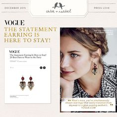Trend Alert: Statement Earrings! Get your Vogue-approved c+i stunners on my boutique today at www.beyouwithci.com!  All purchases over $125 to choose a free gift!  Also, when you reach $500 in accululated purchases you get $100 in jewelry credits!