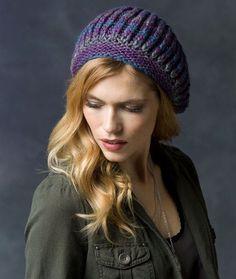 Free+Knitting+Pattern+-+Hats:+Faux+Brioche+Beret