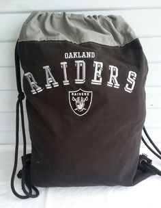 Oakland Raiders one of a kind Backpack for Sale at FB AlamedaIslandGirl.