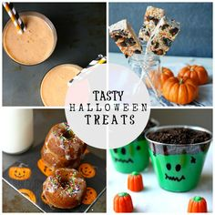 A Tasty Halloween Treat Roundup of our most recent recipes! {simplyhappenstance.com} #Halloween #HalloweenTreats #KidsSnacks