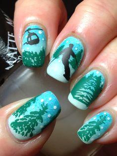 Canadian Nail Fanatic: Digit-al Dozen Does Winter Wonderland; Day 3 winter nails - http://amzn.to/2iZnRSz
