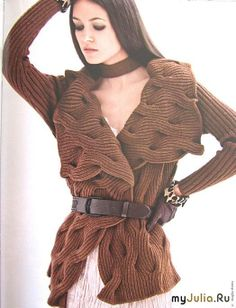 Brown textured jacket ♪ ♪ ... #inspiration_knit #diy GB