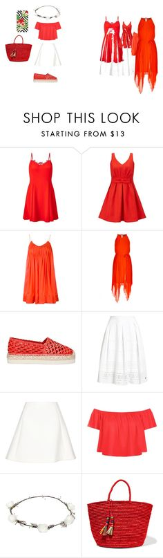 """""""Tropical Lychee"""" by katykitty5397 on Polyvore featuring Miss Selfridge, STELLA McCARTNEY, City Chic, Palomitas by Paloma Barceló, Superdry, Neil Barrett, New Look, Lipsy and Sensi Studio"""