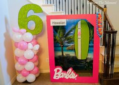 Luau Barbie box??? Could be fun for a photo booth..