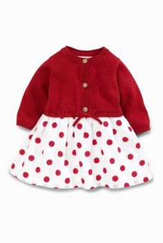 Buy Red Knit Spot Print Dress (0mths-2yrs) online today at Next: New Zealand