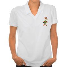 Women's Polo Shirt with jaguar cartoon