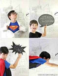 5 steps to a fun Superman party- photo booth