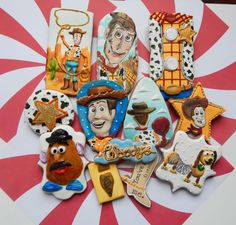 Toy Story Woody Themed Cookies