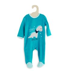 Pyjama en velours brodé                                                                                                                                                                                                                                                                                                         bleu clair Bébé garçon