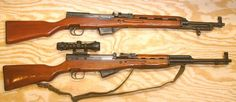 The Albanian 10 July rifle and the Chinese Type 56 rifle