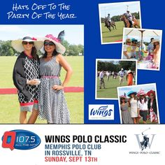 Wings Cancer Foundation hosts the Wings Polo Classic at the Memphis Polo Club in Rossville TN w/ The Q Sun Sept 13th http://Q1075.com